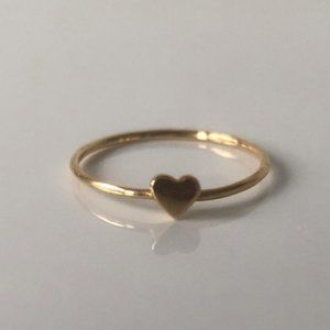 Catbird Gold Heart Stacking Ring